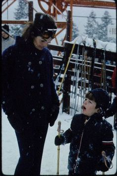 Jackie Kennedy and John Jr at Sun Valley