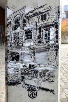 Stencil art by French artist C215