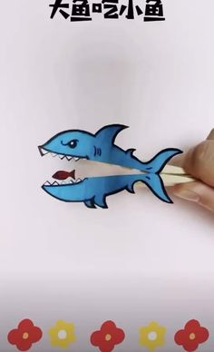 Paper Crafts Origami, Diy Crafts For Gifts, Paper Crafts For Kids, Easy Crafts For Kids, Preschool Crafts, Fun Crafts, Creative Activities For Kids, Creative Crafts, Sharks For Kids