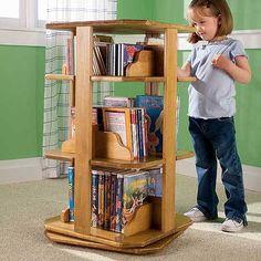 revolving book shelf idea