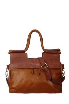 Sac XL en cuir Evasio Brown Sessun sur MonShowroom.com