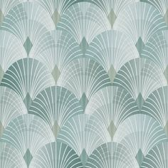 Highland Dunes Shimmering fans create this glamorous print. Its intricate layered design complements its soothing color palette perfectly, creating a striking Art Deco inspired wallpaper. This is non-pasted, non-woven wallpaper. Teal Wallpaper Samples, Art Deco Wallpaper, Brick Wallpaper Roll, Trellis Wallpaper, Botanical Wallpaper, Metallic Wallpaper, Embossed Wallpaper, Damask Wallpaper, Green Wallpaper
