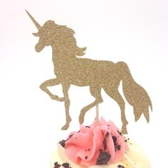 *Pin for later this adorable unicorn cake/ cupcake topper* Perfect for a little girls birthday party decor, photography prop, cake smash, mystical, magical