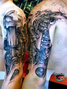 17 Mechanical Tattoo Sleeves