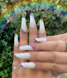 In seek out some nail styles and ideas for your nails? Here is our list of must-try coffin acrylic nails for cool women. Rave Nails, Aycrlic Nails, Swag Nails, Manicure, Coffin Nails, Grunge Nails, Stiletto Nails, Summer Acrylic Nails, Best Acrylic Nails