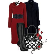 Red Dress 1, created by stylesbyjoey on Polyvore