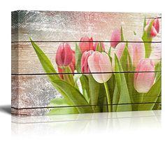 Wall26 - Pink and Fuschia Tulips - Rustic Floral Arrangem... https://www.amazon.com/dp/B019Z7254M/ref=cm_sw_r_pi_dp_x_Cw4uybQTNAZ48