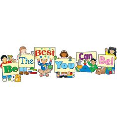 Encourage students to strive for success when you display Be the Best You Can Be Bulletin Board Set! The bulletin board set contains six pieces that complete the Be the Best You Can Be phrase and a teachers resource guide. Included in the resource guide are activities and reproducible award ribbon, trophy, star, and body patterns.