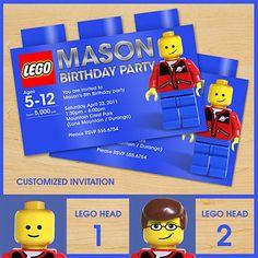 LEGO Birthday Invitations Printable | Lego invitation - Teddy Ted