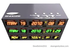 Super Cool Back to the Future Alarm Clock...I NEED this, LOL!!