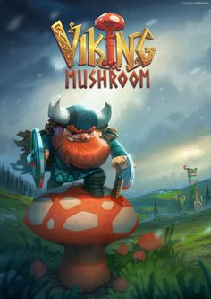 Viking Mushroom by volkanyenen Viking Character, Game Character, Character Design, 2d Game Art, Video Game Art, Game Font, Vikings Game, Map Games, Arte Nerd