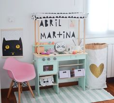 Room Tour: Two Amazing Girl's Rooms in Nordic Style - Petit & Small Playroom Flooring, Playroom Table, Small Playroom, Playroom Wall Decor, Playroom Storage, Bedroom Decor, Playroom Ideas, Kids Room Design, Room Tour
