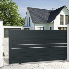 Home Gate Design, House Main Gates Design, Fence Gate Design, Front Gate Design, Sliding Fence Gate, Front Gates, Entrance Gates, Aluminum Driveway Gates, Aluminium Gates