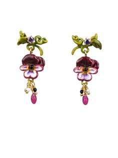 PANSY EARRINGS shop on #www.lesnereides-usa.com