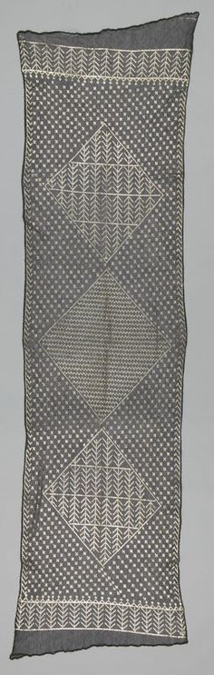 shawl, woven netted cotton with silver threads, Egypt, early 1900s