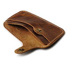 Vintage Cow Leather Men Credit Card Holder Simple Bus Credit Cardholder Case to Protect Credit Cards Slim Card Case Porte Carte