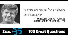 Day 20: Tom Davenport, author and professor at Babson College