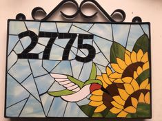 Mosaic Art, Mosaic Glass, Stained Glass, Fused Glass, Mosaic Flowers, Rustic Shabby Chic, Mosaic Designs, House Numbers, Letters And Numbers