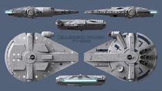 Millennium Falcon Schematics - Solo by Ravendeviant