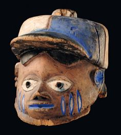 "Africa | Mask ""gelede"" from the Yoruba people of Nigeria 