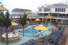View of the Lido Deck on Carnival Cruise Ship Fantasy