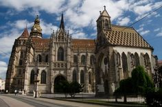 Elisabeth Cathedral - The largest church in Slovakia with a capacity of over people and the easternmost Gothic cathedral in Europe is a heart and centre of Kosice. Gothic Cathedral, Eastern Europe, Best Memories, Barcelona Cathedral, Places Ive Been, Mansions, Architecture, House Styles, World