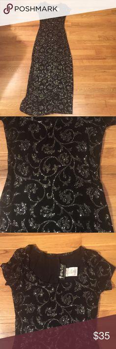 Pop up Sale!All that jazz black Sparkle dress 92% acetate, 8% spandex all that jazz Dresses