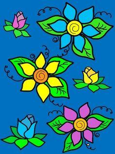 Free!! Blooming Flowers Clip Art