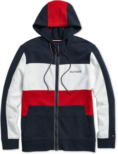 Tommy Hilfiger Adaptive Men's Cunningham Hoodie with Magnetic Zipper - Blue XXL Tommy Hilfiger Outfit, Tommy Hilfiger Sweatshirt, Comfortable Mens Dress Shoes, Camisa Floral, Crew Shop, Mens Sweatshirts, Nike Jacket, Sportswear, Men Sweater