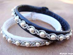 Sami Swedish Reindeer Leather Pewter Braid Lapland Bracelet with Sterling Silver Beads and Antler Button - Black - Gjall - Natural Elegance
