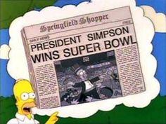 The simpsons presentes en la euforia del Super Bowl