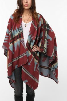 Staring at Stars Aztec Ruana $42.00 This is awesome, but I wouldn't spend $42 on it....