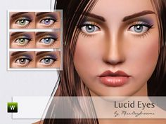 Lucid Eyes - bright contact lenses for your Sims! Found in TSR Category 'Sims 3 Contact Lenses' Sims 3 Makeup, Sims 4, Lenses, Bright