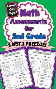 **FREEBIE** This freebie contains 2 assessments for the following Common Core Standard: 2.NBT.1 Understand that the three digits of a three-digit number represent the amounts of hundreds, tens, and ones. #CommonCore #2ndGrade Common Core Curriculum, Common Core Math, Math Lesson Plans, Math Lessons, Math Classroom, Classroom Freebies, Future Classroom, Classroom Ideas, Math Resources