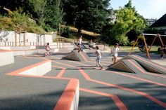 Playground Design, Children Playground, Urban Park, Landscape Drawings, Kids Sports, Landscape Architecture, Kids Playing, Facade, Camping