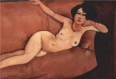 Nude on sofa (Almaisa) - Amedeo Modigliani