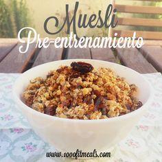 1000 Fit Meals: Receta de Muesli Casero Fitness. Sin azúcar. Perfecto como preentrenamiento.