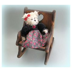 Miniature Chair Doll Furniture Miniature Furniture Large Doll Chair... ($32) ❤ liked on Polyvore featuring chair decor