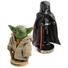 Star Wars Nutcrackers       Click to zoom      Buy this and earn  625Geek Points    Share the AWESOME:       Customer Action Shots:    Your Fellow Smart Masses Also Bought:  Boba Fett Holiday Decoration      Ghostbusters Logo Mug      Star Trek Nutcrackers      iBone Dog Toy      Star Wars Yoda Holiday Hat      May the nuts be with you  Use the Force to crack open nuts  Wooden nutcrackers for Star Wars fans  Choose: Darth Vader or Yoda