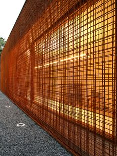 Thought: use rebar to create a rusting screen, overlay several sheets to randomise