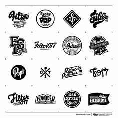 Filter017 LOGO & TYPO DESIGN COLLECTION 2006 - 2012 by Filter017 , via Behance
