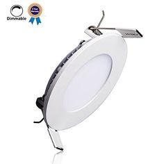 B-right® 6W Dimmbar LED Einbaustrahler LED Panel Leuchte, 4000K, Neutral Weiß,480 Lumen, Rund LED Einbauleuchten, Rund LED Panel Lamp. Zwei-Jahres-Garantie