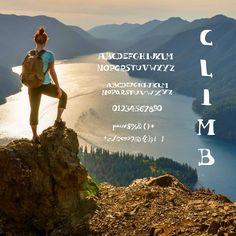 Rayanne | Climb | Fonte com uma leve inspiração na famosa Bodoni. Serifada, com um leve contraste entre grosso-fino.
