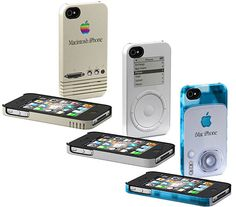 Okay, so this is kind of futuristic...you can make your brand new iphone look old an old Mac computer or the original ipod with these sweet cases