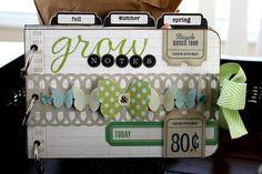 Grow Notes mini album *April Cocoa Daisy - Two Peas in a Bucket