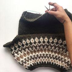 Ravelry: Treysta pattern by Jennifer Steingass Knit Crochet, Crochet Hats, Crochet Wall Hangings, Fair Isle Knitting Patterns, Nordic Sweater, Sweater Weather, Ravelry, Knitted Hats, Free Pattern