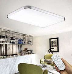 Stylehome® LED Ceiling Light Ceiling Lamp LED Ceiling/Wall Lamp Kitchen Light Dimmable with Remote Control 6506 72 W