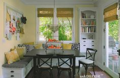 kitchen built in bench | built in kitchen benches | Kitchen table seating area | Cultivate