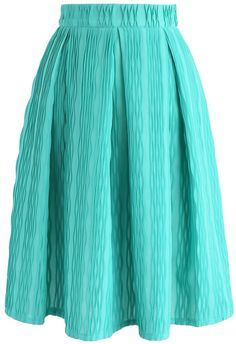 Wave All Night Long A-line Skirt in Green - New Arrivals - Retro, Indie and Unique Fashion