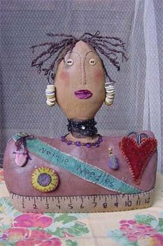 Black Woman Pin Cushion Doll | Flickr - Photo Sharing!
